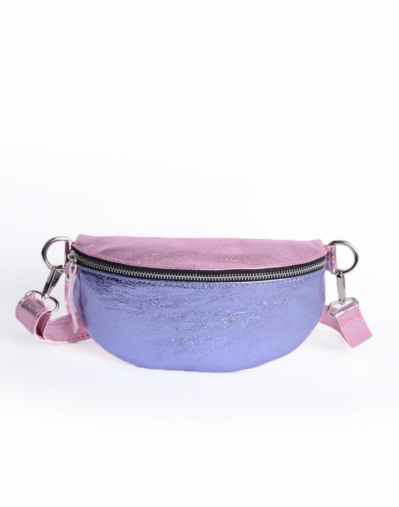 Cross Body Bag Rainbow - Pink/Blue Metallic