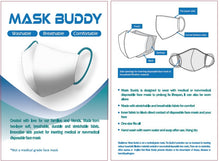 Load image into Gallery viewer, Mask Buddy Adult Teal