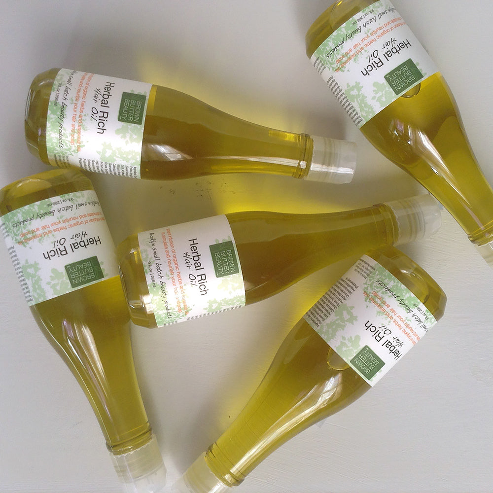Herbal Hair Oil + Why I Made It + How to use it
