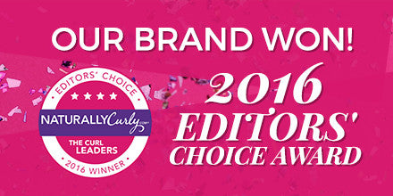 Our Brand Won!! 2016 Editors Choice Award!