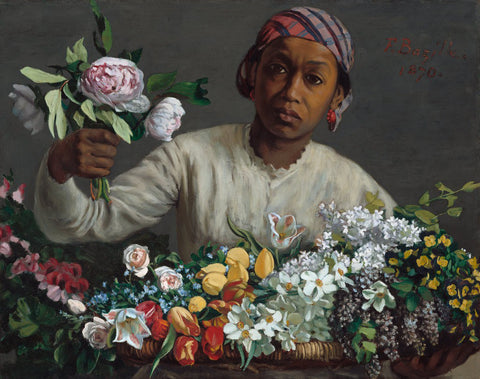 "Frédéric Bazille's ""Young Woman With Peonies"""
