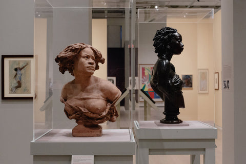 """La négresse (Pourquoi! Naître esclave!), or ""The black woman (""Why Born a Slave!"") from the workshop of Jean-Baptiste Carpeaux, and Charles-Henri-Joseph Cordier's ""African Venus,"""