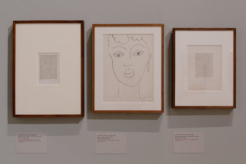 "Matisse's ""Martiniquaise, Study for 'Fleurs du Mal,'"" 1946; ""Face of a Haitian Woman,"" 1945; and ""Martiniquaise, Study for 'Fleurs du Mal,'"""
