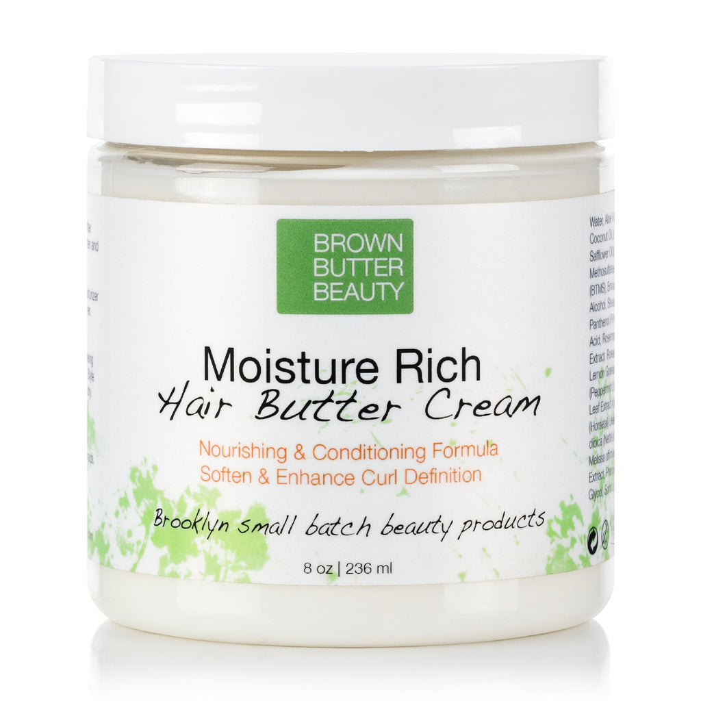 Heavy Cream Hair Moisturizer for Dry Damaged Curly Textured Coily Natural Hair by Brown Butter Beauty