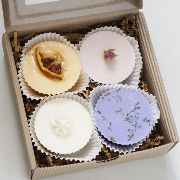 Choose your own Artisan Soap Cupcake Gift Set (4)