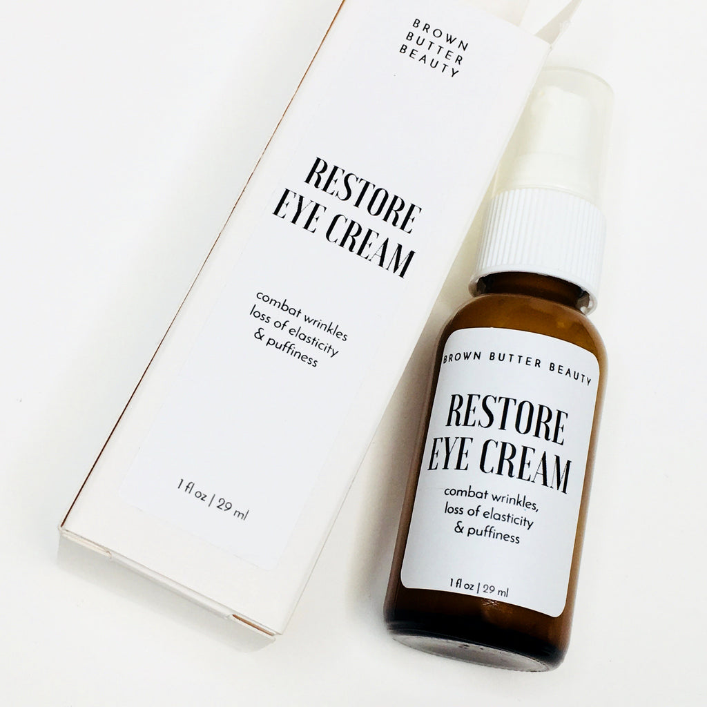 Restore Eye Cream for wrinkles, elasticity and puffiness with peptides, 1 fl. oz.