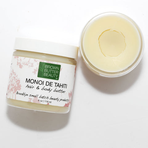 Monoi Tahiti Hair Butter for Styling, Braids or Twists | Doubles as a Body Butter
