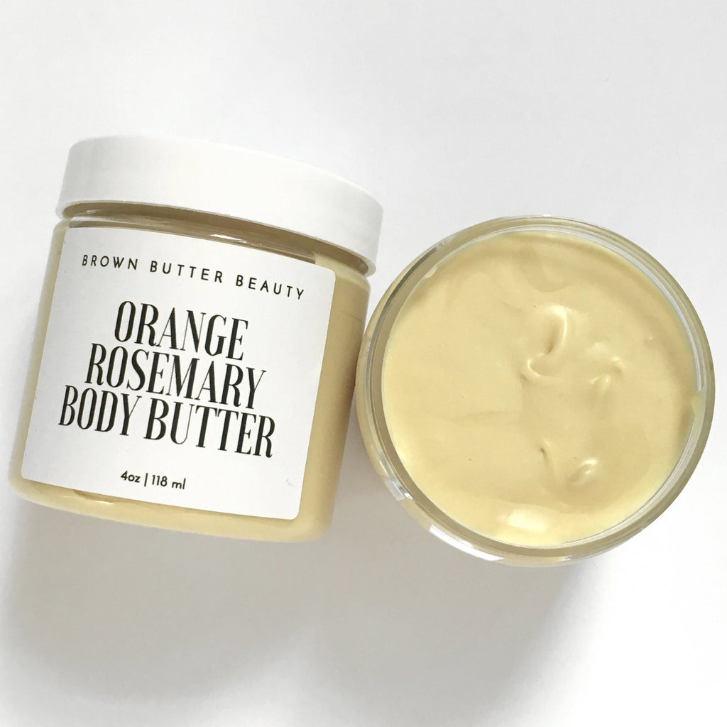 natural body butter with pumpkin seed oil orange and rosemary essential oils