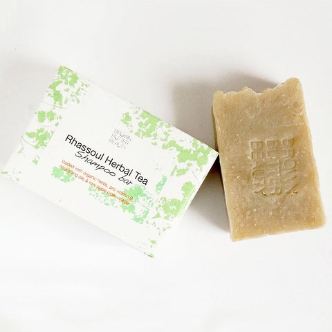 Rhassoul Herbal Solid Shampoo Bar - with Raw Apple Cider Vinegar - Organic Herbal Formula