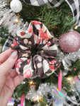 Handmade Scrunchie - Black/Grey Floral