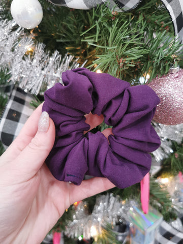 Handmade Scrunchie - Dark Purple