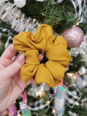 Handmade Scrunchie - Mustard Yellow
