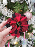 Handmade Scrunchie - Red Buffalo Plaid