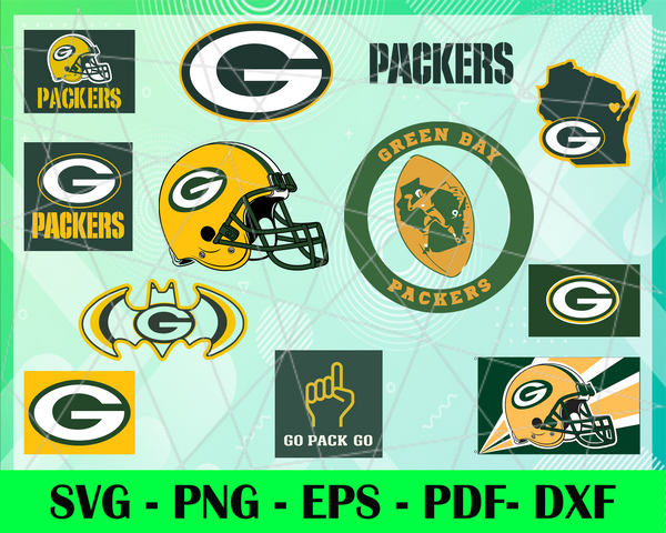 Green Bay Packers Logo Svg Eps Dxf Png Instant Download Craft Suppl 6688svg Store
