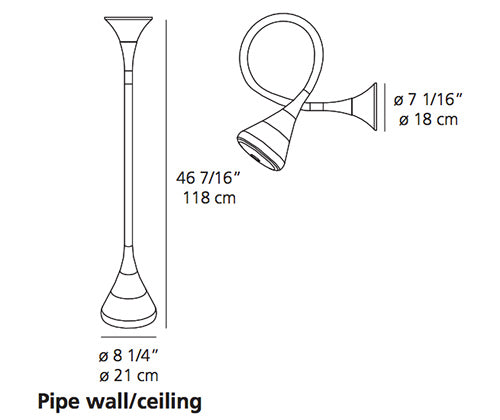 Pipe suspension ou murale