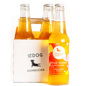 UpDog Kombucha (4 pack) - Wild Thing Apple Ginger