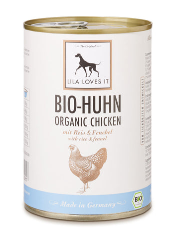 LILA LOVES IT Bio-Huhn mit Reis & Fenchel 400g