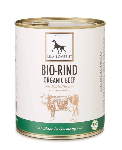 LILA LOVES IT Bio-Rind mit Dinkelflocken 800g
