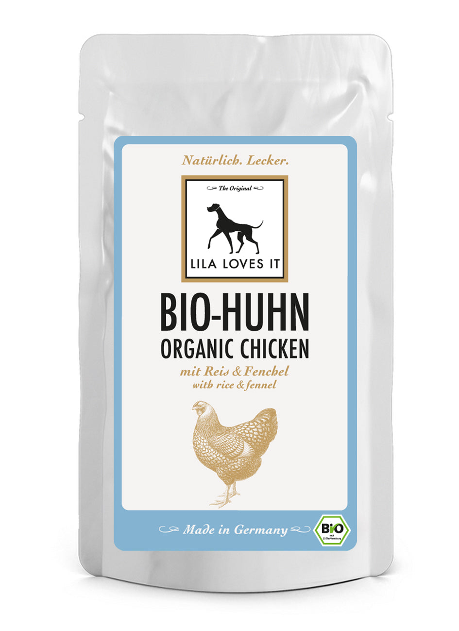 LILA LOVES IT Bio-Huhn mit Reis & Fenchel Pouch