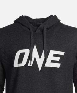 ONE Heather Gray Logo Pullover Hoodie