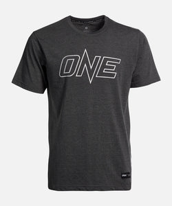 ONE Silver Metallic Logo Tee
