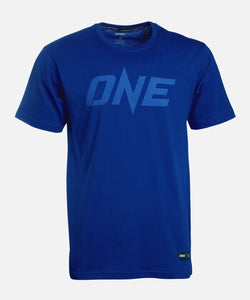 ONE Blue Monotone Logo Tee