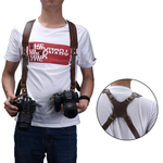Leather Dual Camera Strap