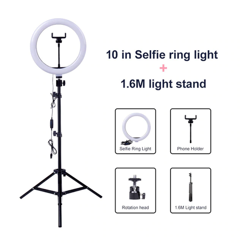 "10"" Ring Light with 63"" Tripod Stand and More!"
