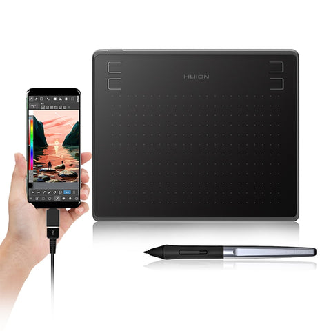 Graphic Drawing Tablet with Battery-Free Stylus