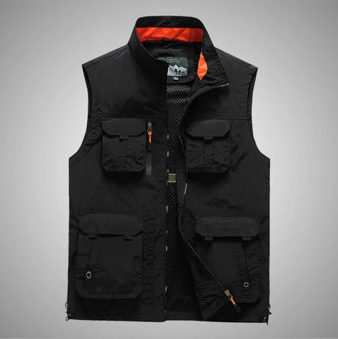 M/6XL Multi-Pocket Photographer Vest