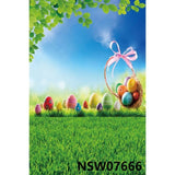 Easter Backdrops - Spring Flowers, Easter Egg, Wood Rabbit Baby