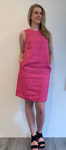 Dress linnen pink