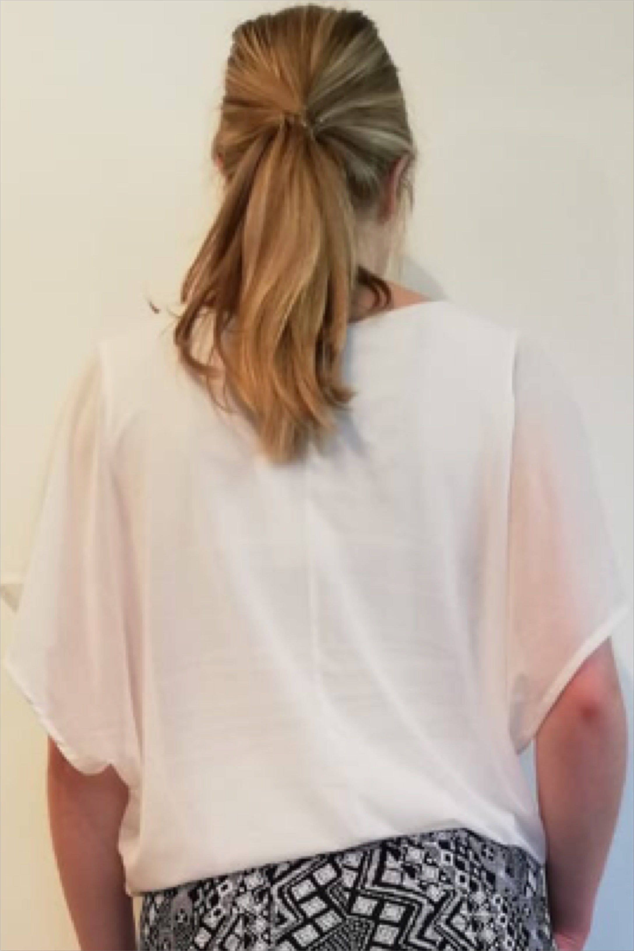 Martine mesh top uni off-white