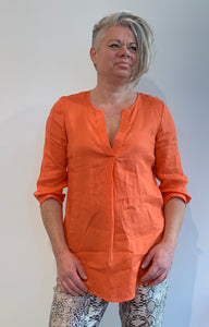 Blouse linnen orange
