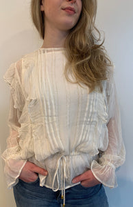 Ruffle Top Lurex Stripe