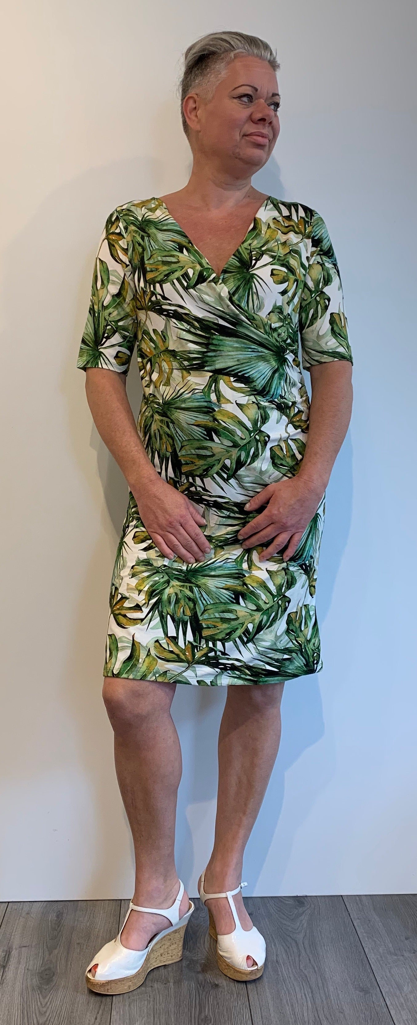 Vivian leaf dress Green