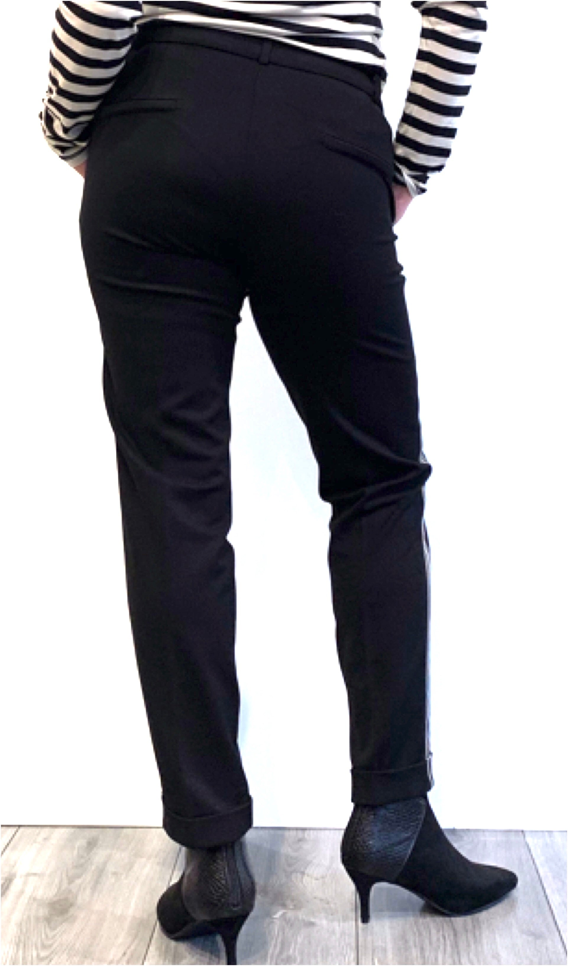 Trousers stretch melange