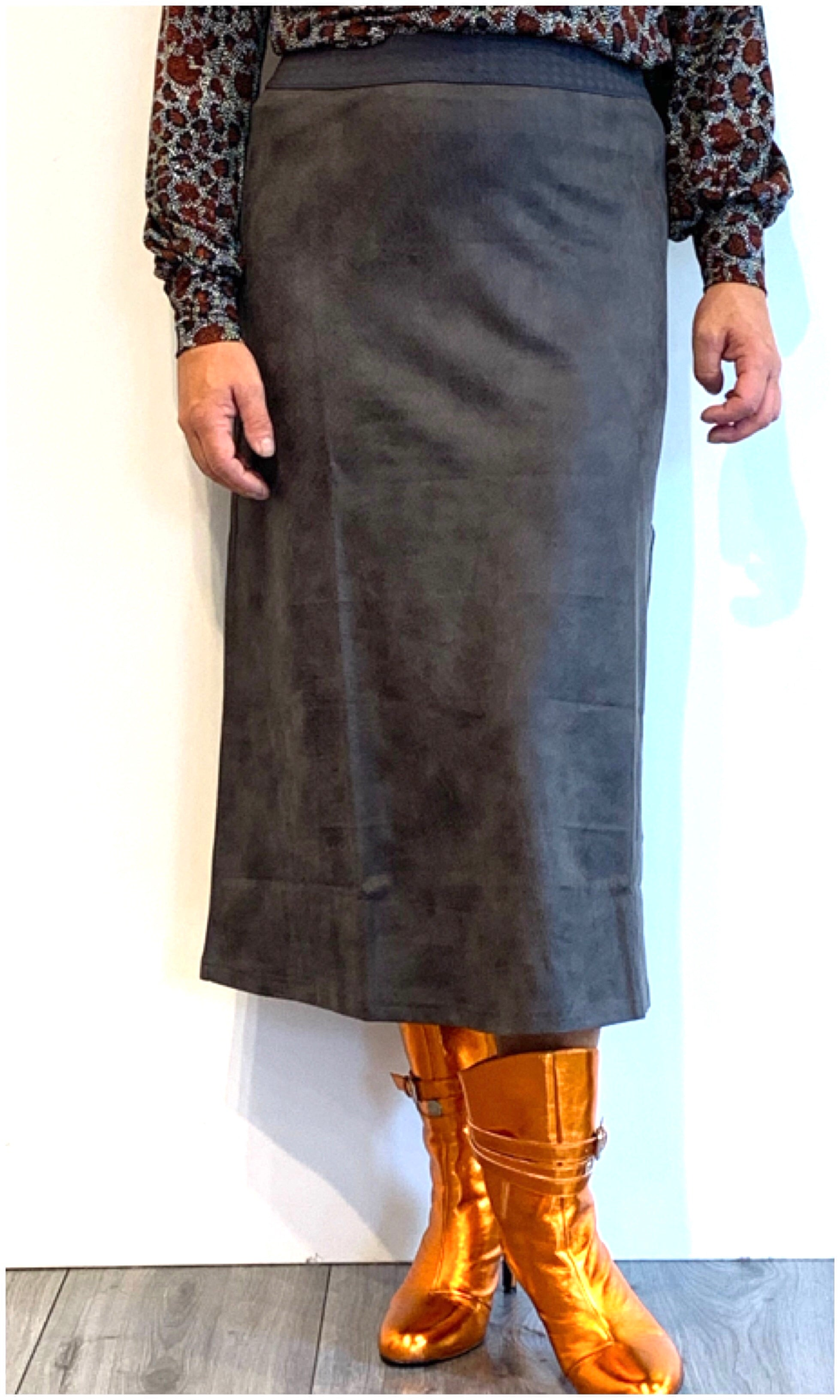 Skirt Plain grey Poools