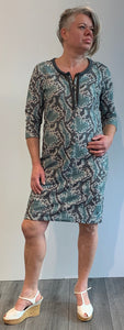 sweatdress snakeprint
