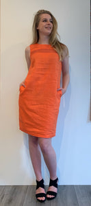 Dress linnen orange