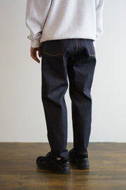 "STRAIGHT FIT DENIM PANTS RAW ""THUNDERS"""