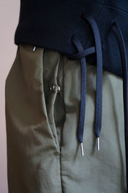 RELAXED FIT WIDE TACK PANTS