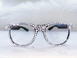 glasses with Swarovski crystals