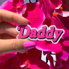 Load image into Gallery viewer, daddy sticker flower background
