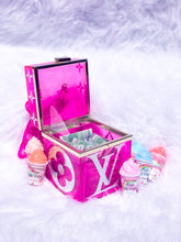 Load image into Gallery viewer, pink glitter hand bag