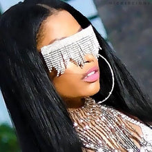 Load image into Gallery viewer, Crystal Fringe Diamond Sunglasses