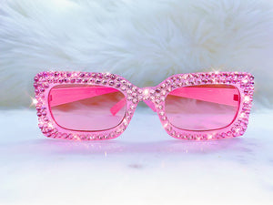 y2k Pink Bling Sunglasses