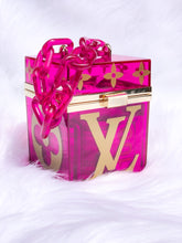 Load image into Gallery viewer, pink box handbag