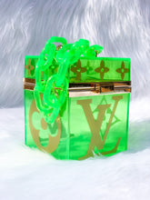 Load image into Gallery viewer, green lv box handbag