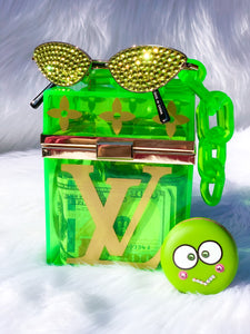 Neon Green Box Hand Bag